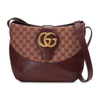NWT Gucci Arli GG Medium Shoulder Bag - Burgundy